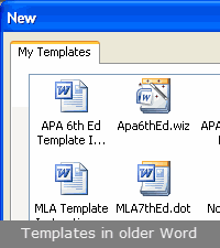 APA in Word's template folder