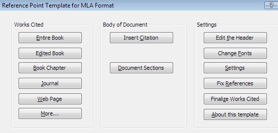 mla menu in word 2003 and earlier mla paper