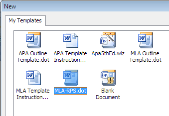 mla template screenshots